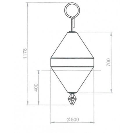 Diameter 500mm mooring buoy