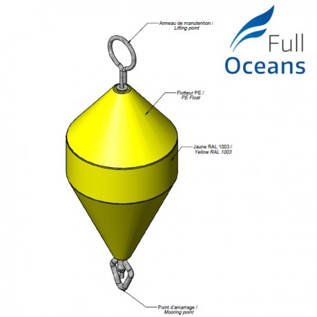 Diameter 650mm mooring buoy