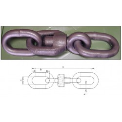Swivel forerunners coaltared for ND20 mm chain