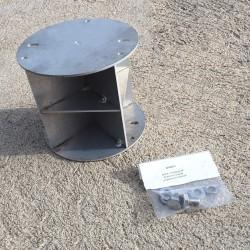 Réflecteur radar pour mât cylindrique