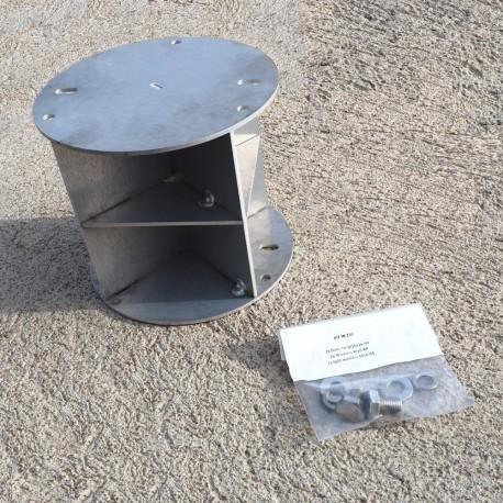 Radar reflector for cylindric mast