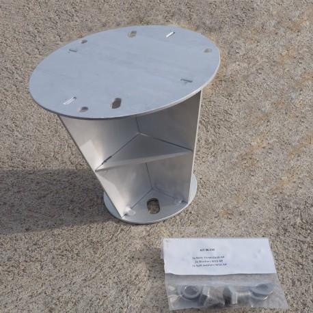 Réflecteur radar pour mât conique
