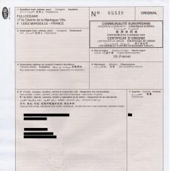 Certificat d'Origine certifié par une CCI française