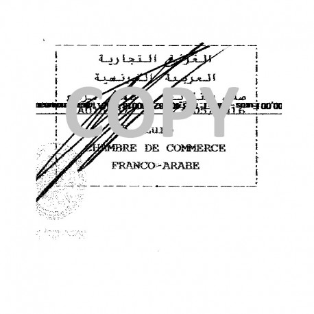 Certification of 1 document by the French-Arabian CC (CCFA)