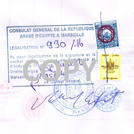 Certification of 1 document by an Ambassy or Consulate