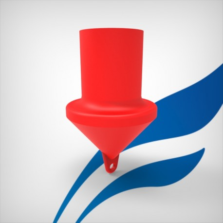 Cylindrical marker buoy - foamed