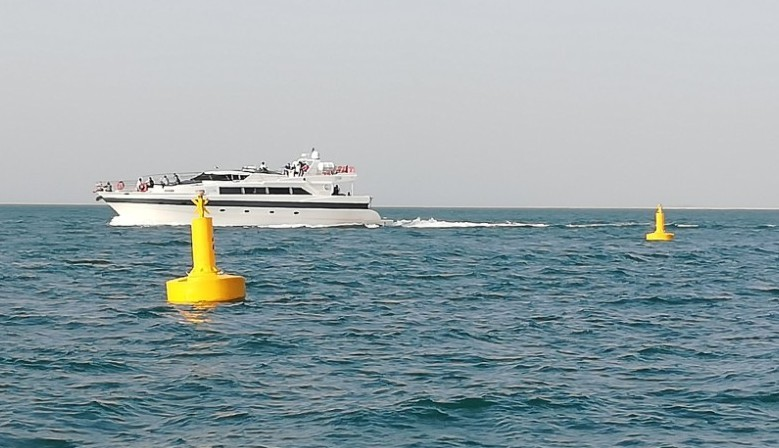 FLC1500 special mark buoy with Carmanah M660